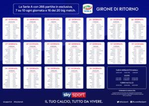 Calendario Serie A 2018 2019 Ritorno